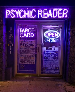View from a broad: Psychic fun with the girls?