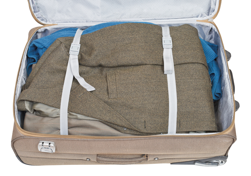 casual jacket packed in suitcase