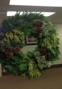 NOTHING says it is Time for the Holidays Like a Holiday Wreath