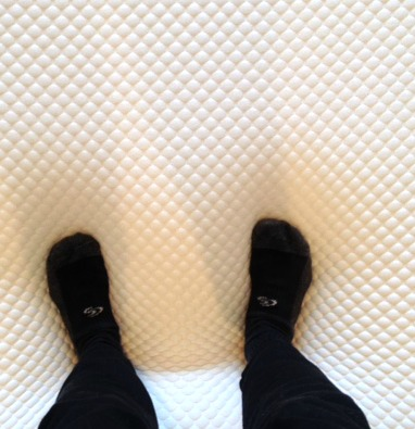standing on bed